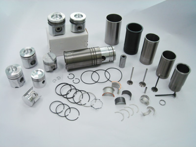 Pistons, Cylinder Liners, Piston Pins, Bearings and Piston Rings
